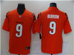 Men's Cincinnati Bengals #9 Joe Burrow 2021 Orange Vapor Untouchable Limited Stitched NFL Jersey