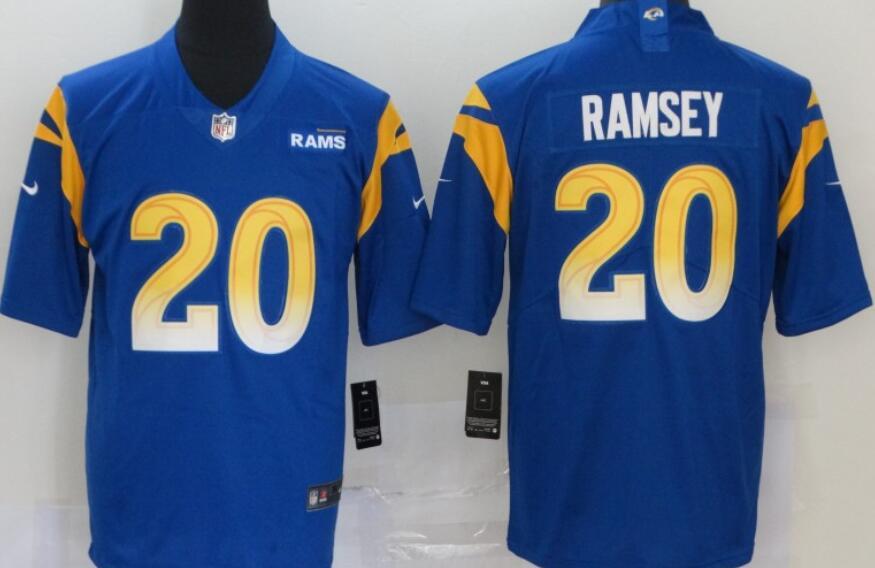 Men's Los Angeles Rams #20 Jalen Ramsey Royal Blue 2020 New Vapor Untouchable Stitched NFL Nike Limited Jersey