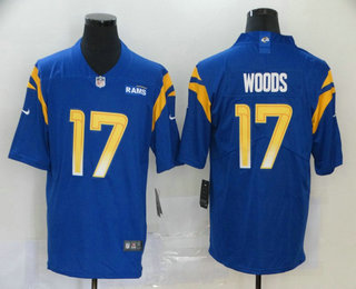 Men's Los Angeles Rams #17 Robert Woods Royal Blue 2020 NEW Vapor Untouchable Stitched NFL Nike Limited Jersey